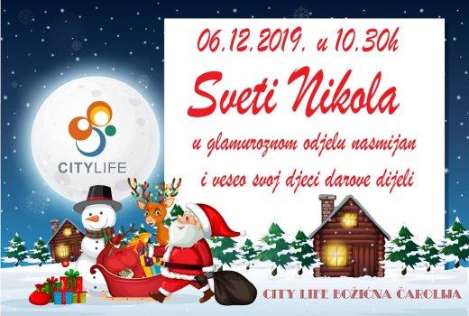 Sv. Nikola dolazi na otvaranje City Life Božićne čarolije