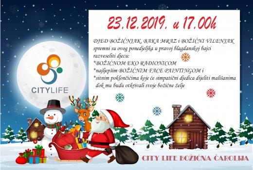 U City Life stiže Djed Božićnjak sa šarmantnom Bakom Mraz i veselim Vilenjakom