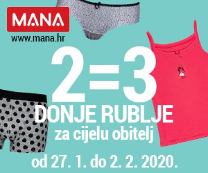 Osvježite svoju garderobu novim donjim rubljem i iskoristite akciju 2 = 3!