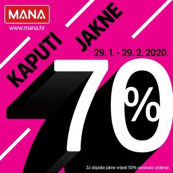 U trgovini MANA iskoristite nevjerojatnih 70% popusta na jakne i kapute!