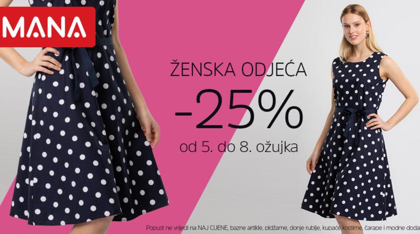 Sretan Dan žena uz 25% popusta na žensku odjeću!