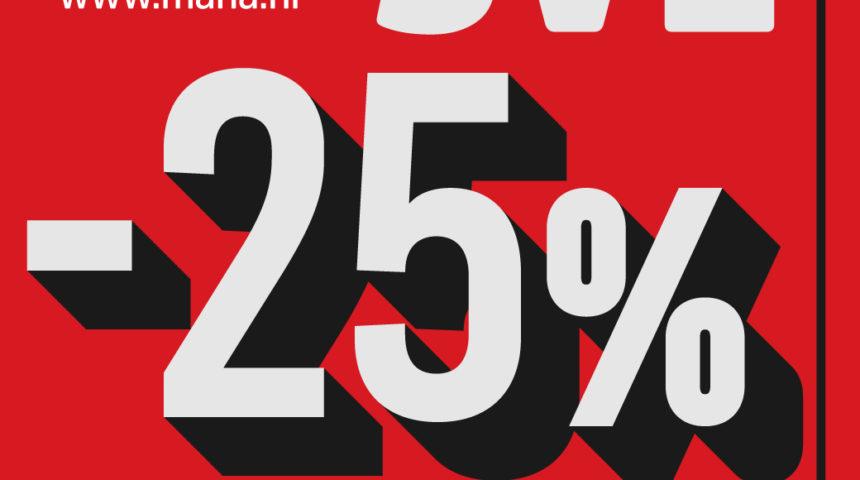U Mani iskoristite 25% popusta na sav asortiman