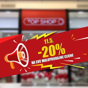 Top Shop: -20% povodom ponovnog otvorenja
