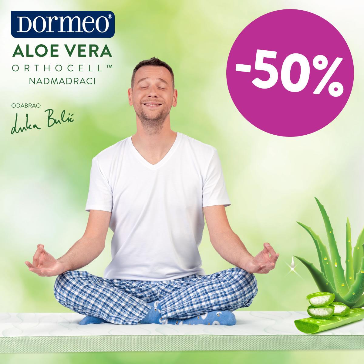Dormeo Aloe Vera Orthocell nadmadraci na -50% popusta