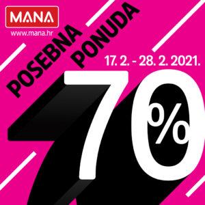 Upravo je počelo 70% ZIMSKO SNIŽENJE u trgovini MANA!