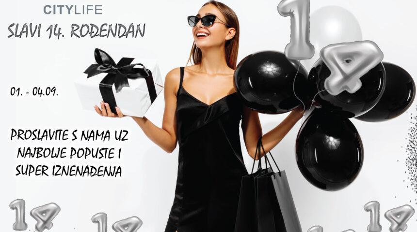 City Life slavi 14. rođendan uz najbolje popuste, super nagrade i brojna iznenađenja